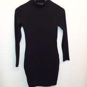 Naked Wardrobe Black Long Sleeve Dress